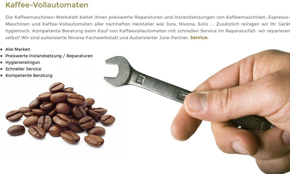 kaffeemschinenreparatur